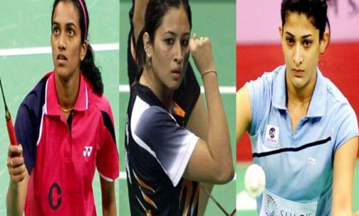 sindhu jwala ashwini in asian championships quarters