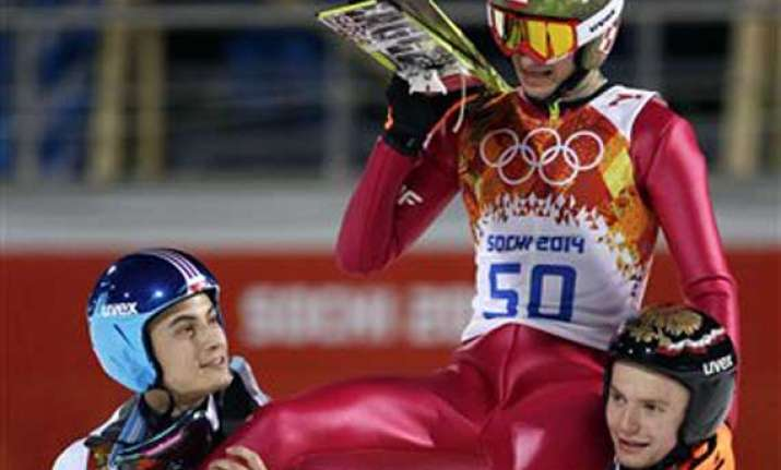 sochi olympics kamil stoch wins men s normal hill gold