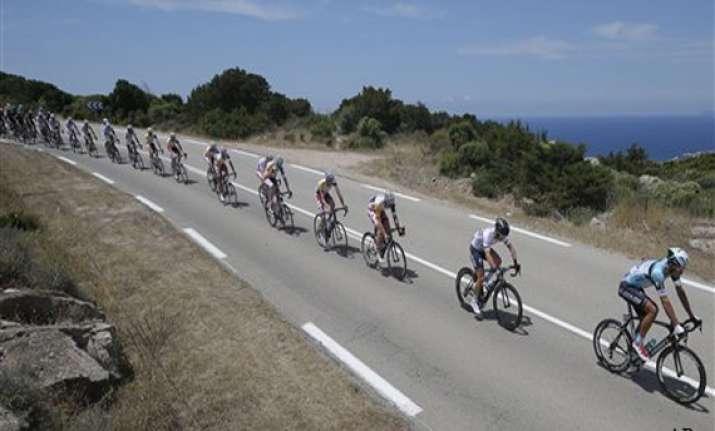 tour de france riders start on corsica