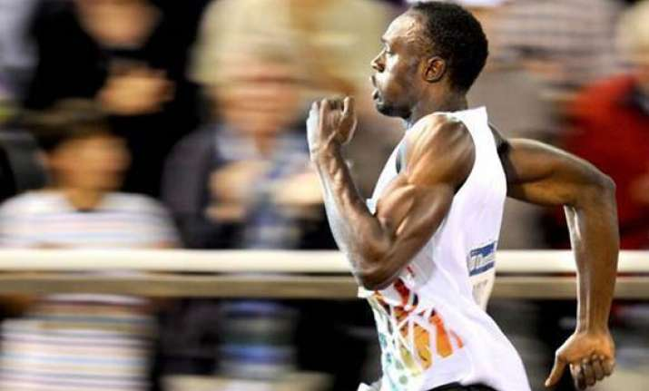 usain bolt blazes to victory in stockholm