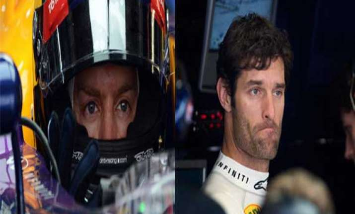 vettel webber produce fastest time ahead of indian