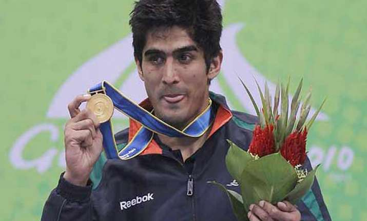 vijender leads indian boxing contingent at commonwealth