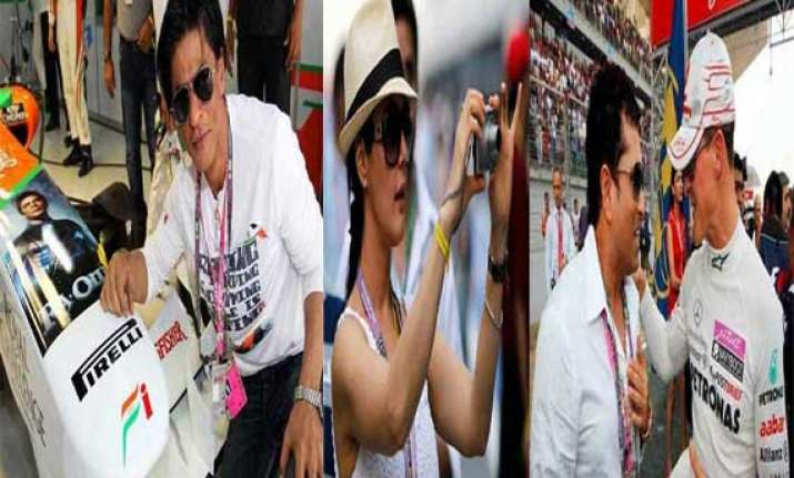 watch f1 crazy sportsmen and bollywood stars at buddh
