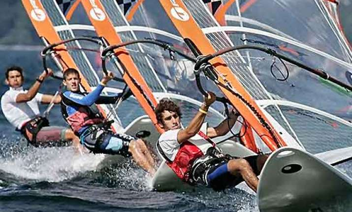 windsurfing in kite surfing out of rio 2016