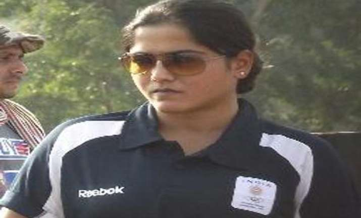 world cup shooting lajja gauswami wins silver