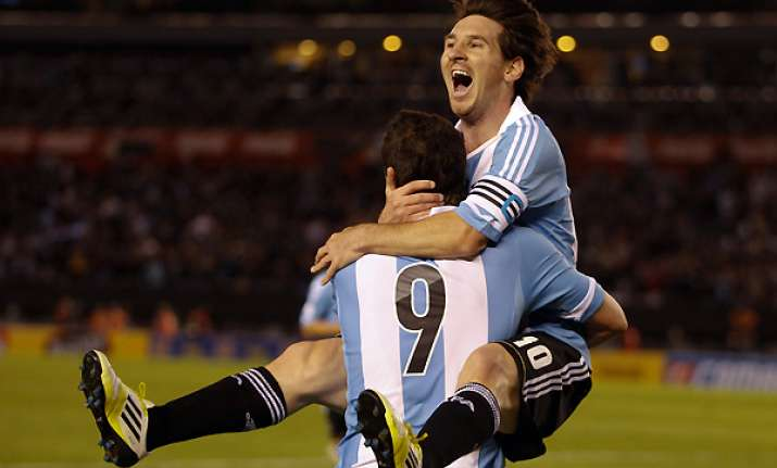 messi aguero higuain score in rush for argentina