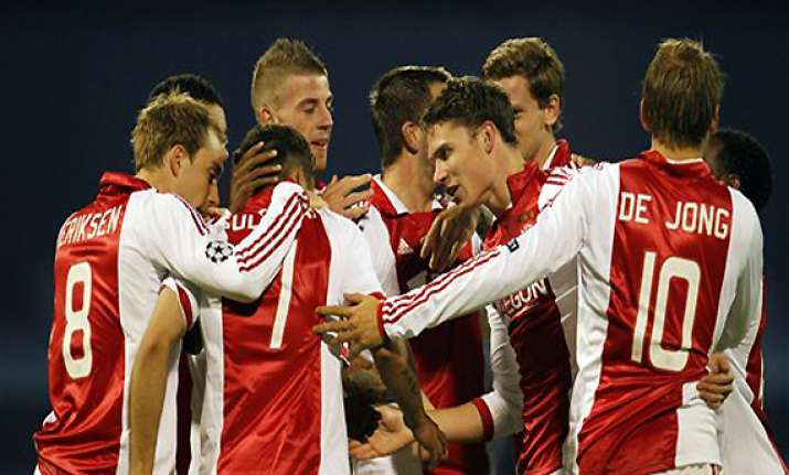 ajax beats dinamo 2 0 in champions league