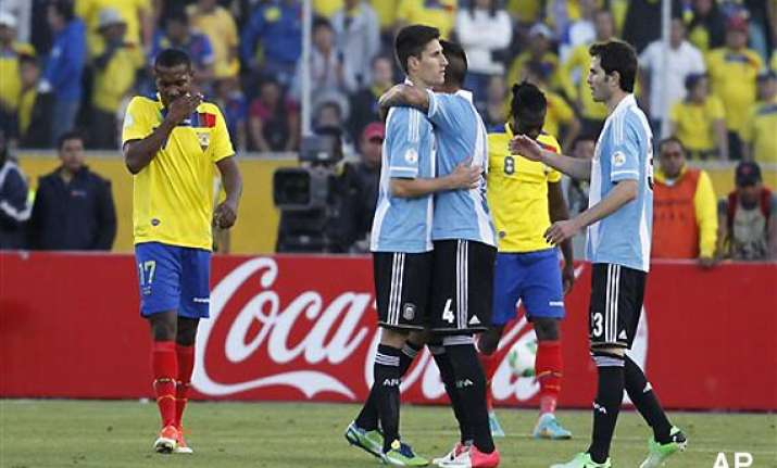 argentina draw with ecuador in football world cup qualifier