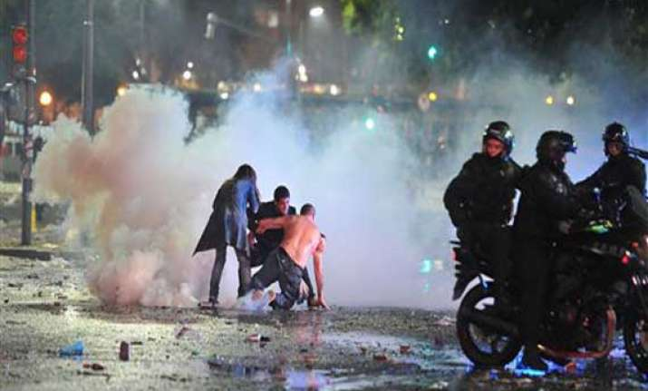 argentine world cup celebration marred by violence