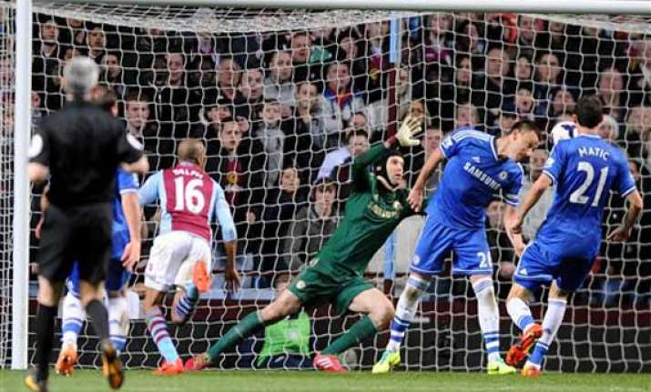 aston villa beat league leaders chelsea 1 0 in epl