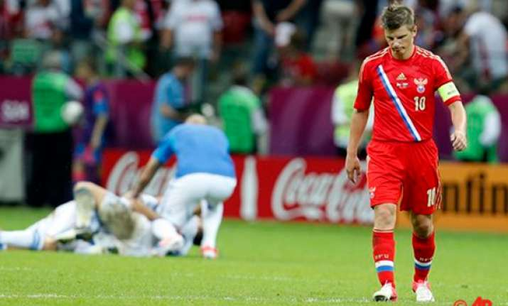 attacking russians fire blanks exit euro 2012