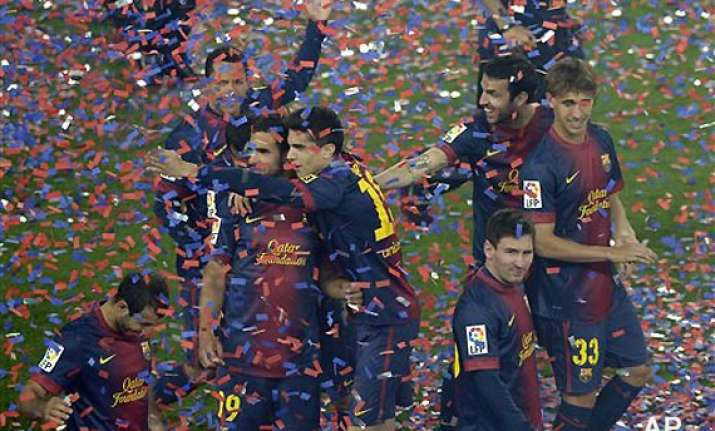 barca celebrate title in front of fans