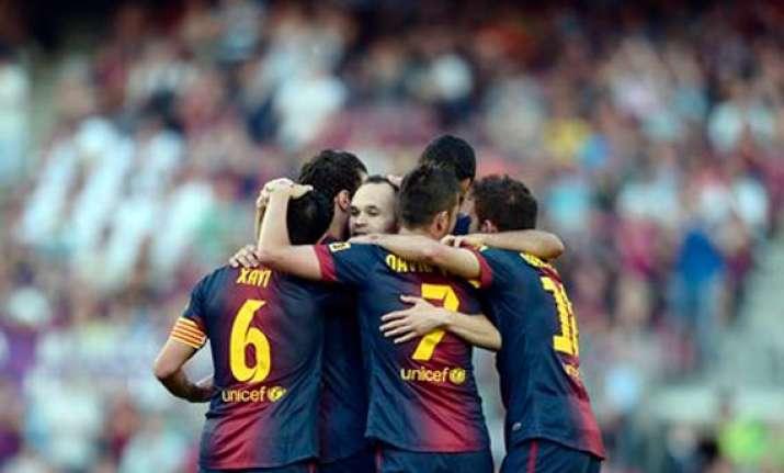 barcelona equals point record mourinho farewell