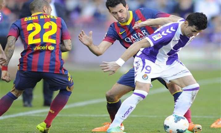 barcelona loses 1 0 at valladolid ahead of city