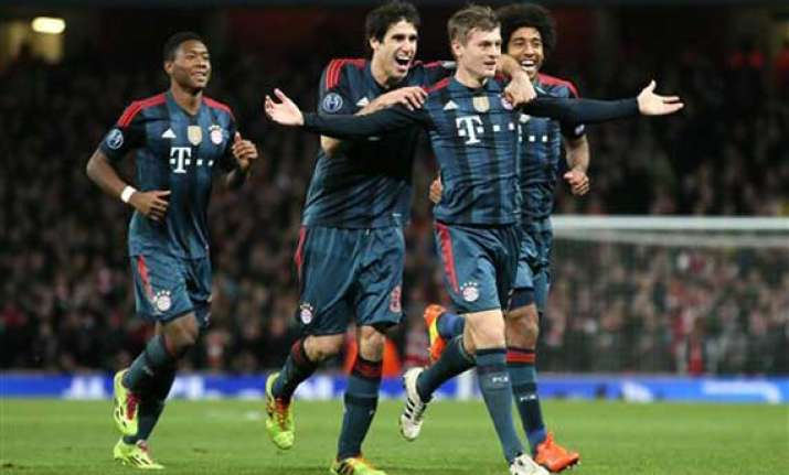 bayern beats arsenal 2 0 in champions league