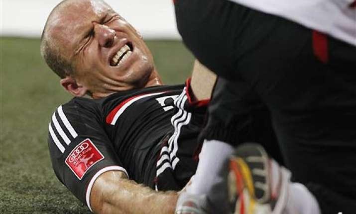 bayern s robben injures ankle in preseason match