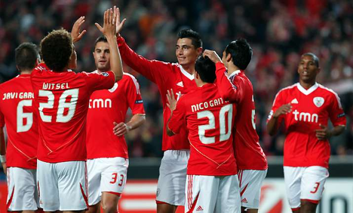 benfica beats otelul 1 0 in champions league