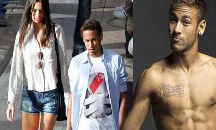 brazil star neymar shoots nike advert with a spanish beauty