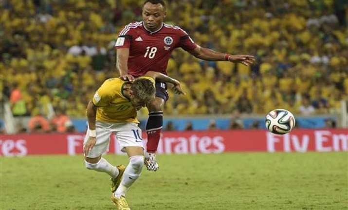 brazil striker neymar to miss rest of world cup