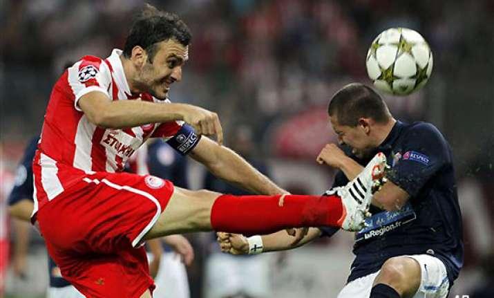 champions league olympiakos beats montpellier 3 1