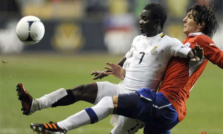 chile ghana draw 1 1 in friendly