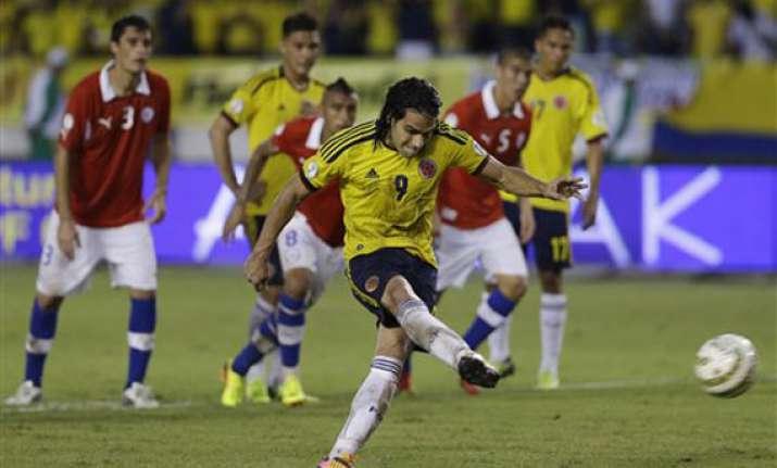 colombia enters world cup ecuador chile in queue