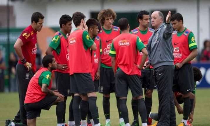 confed cup scolari tries to contain brazil euphoria after