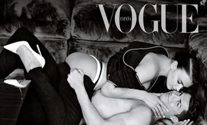 cristiano ronaldo and irina shayk appear semi nude for vogue