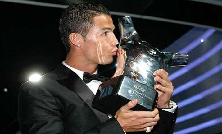 cristiano ronaldo named european player of year
