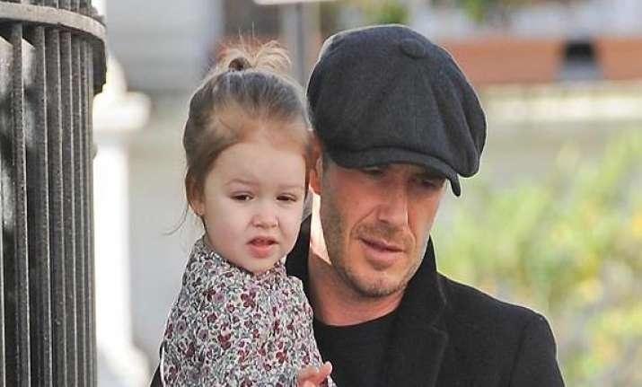 david beckham loves styling daughter