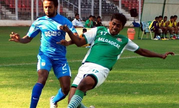 dempo take on salgaocar in i league opener