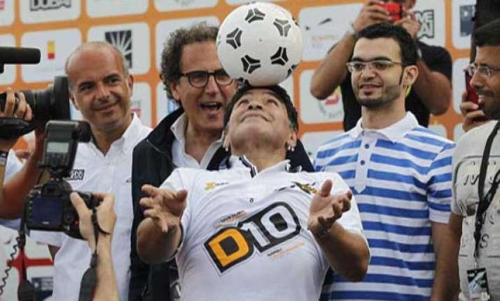 diego maradona shows off some skills