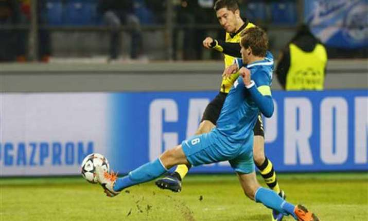 dortmund wins 4 2 at zenit in champions league