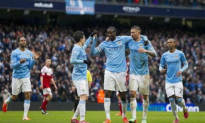 dzeko double helps man city to 3 0 win over man united in
