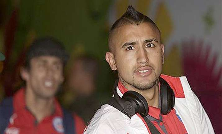 fifa world cup fit again vidal arrives in brazil with chile