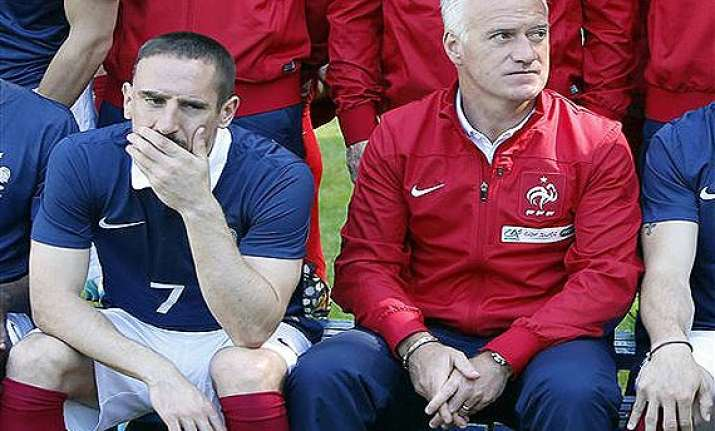 fifa world cup france winger franck ribery ruled out with