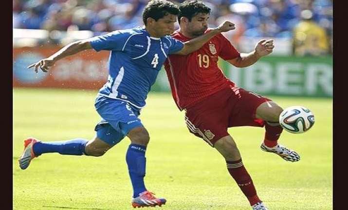 fifa world cup diego costa looks healthy as spain tops el