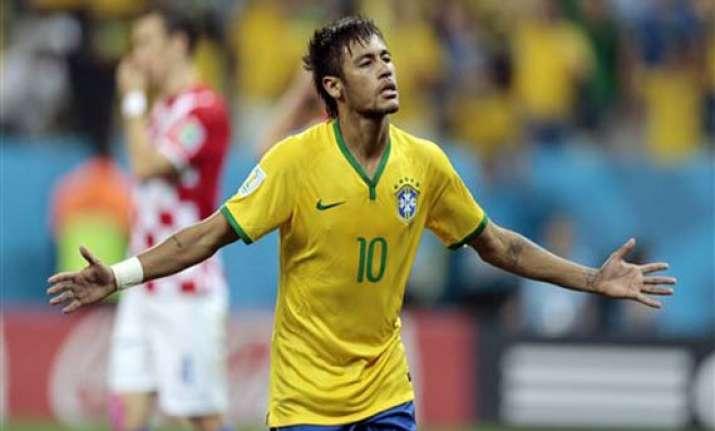 fifa world cup neymar leads brazil to 3 1 win over croatia
