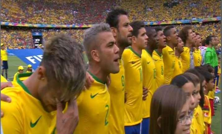 fifa world cup when national anthem made neymar cry