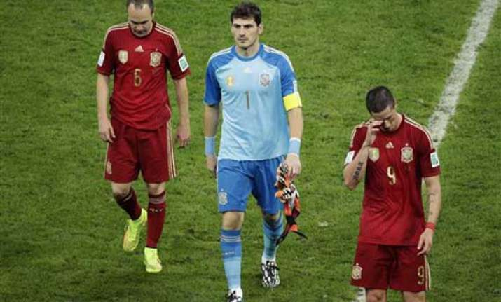 fifa world cup spain not good enough after early world cup