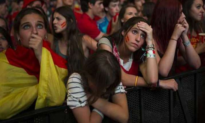 fifa world cup spain s world cup reign ended by 2 0 loss to
