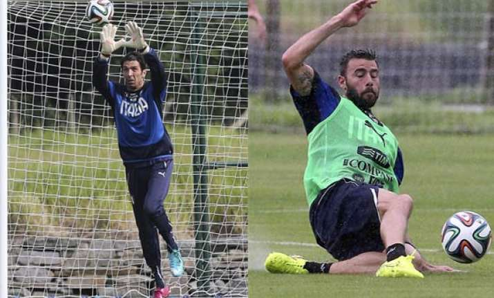 fifa world cup italy s buffon and barzagli still in doubt