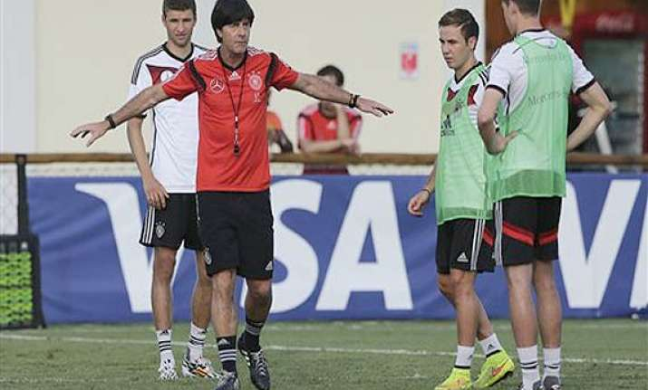 fifa world cup germany coach urges players to stay focused