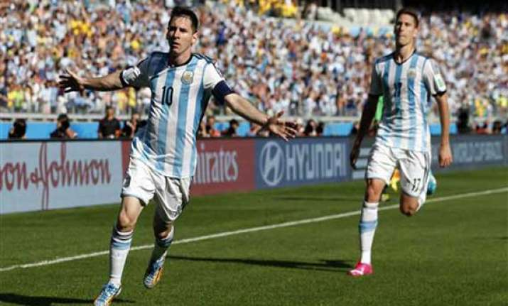 fifa world cup messi gives argentina 1 0 cup win over iran