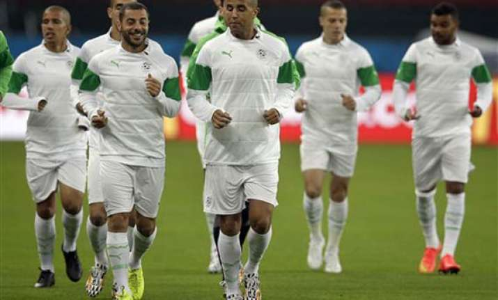 fifa world cup algeria lowers target before south korea