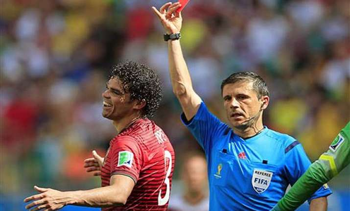 fifa world cup pepe red card hotter on twitter than messi s