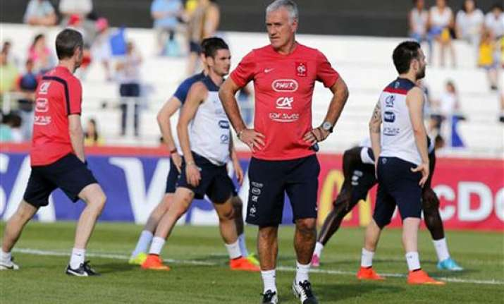 fifa world cup deschamps plays down expectations of a goal