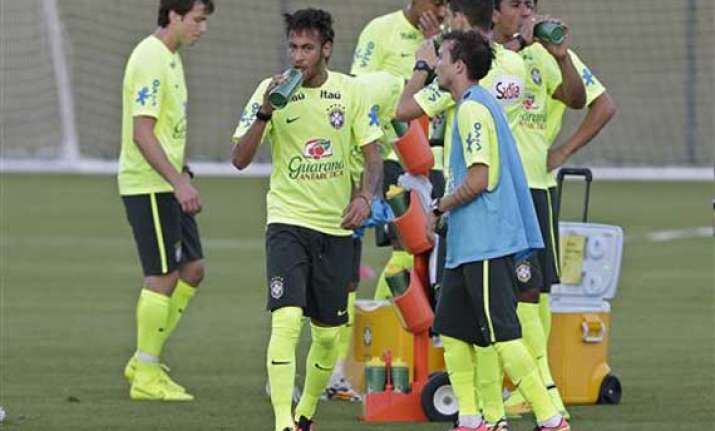 fifa world cup brazil showing some nerves ahead of chile