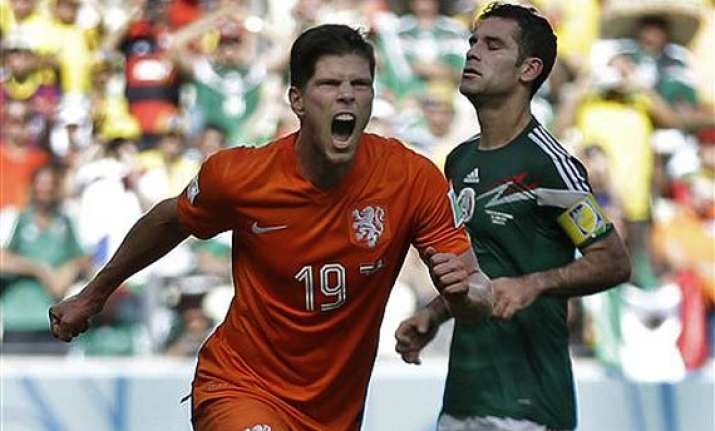 fifa world cup huntelaar s late penalty gives netherlands 2