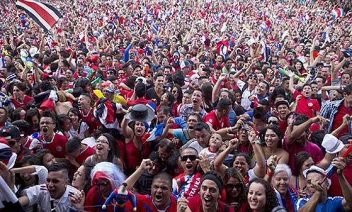 fifa world cup costa rica celebrates win over greece